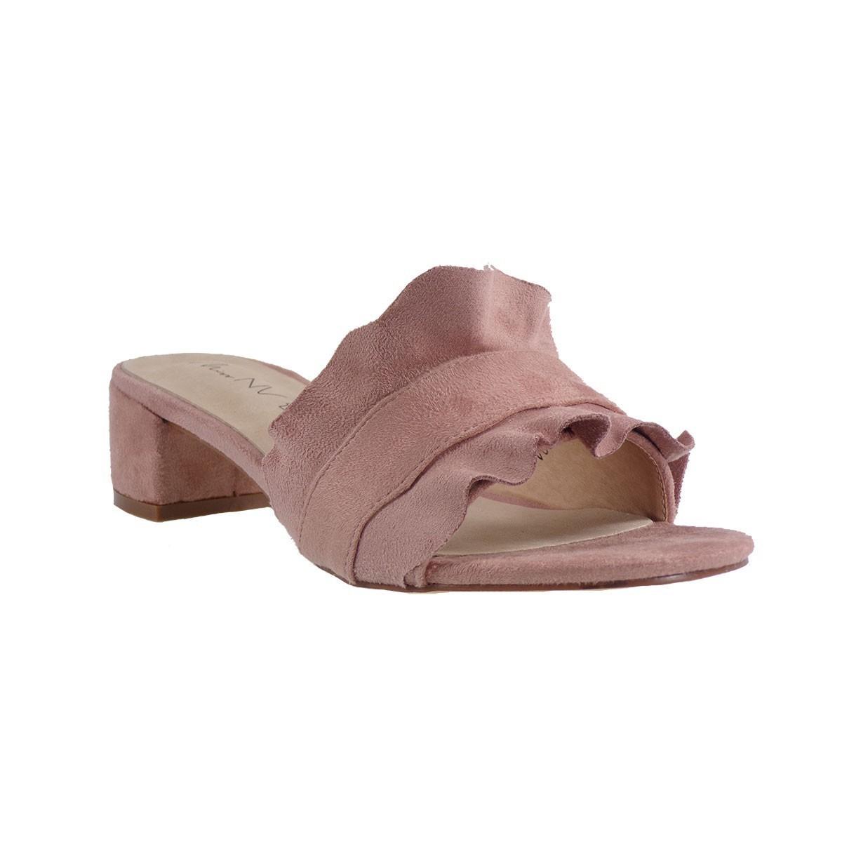MISS NV Γυναικεία Παντόφλες Mules V65-07874 Ρόζ