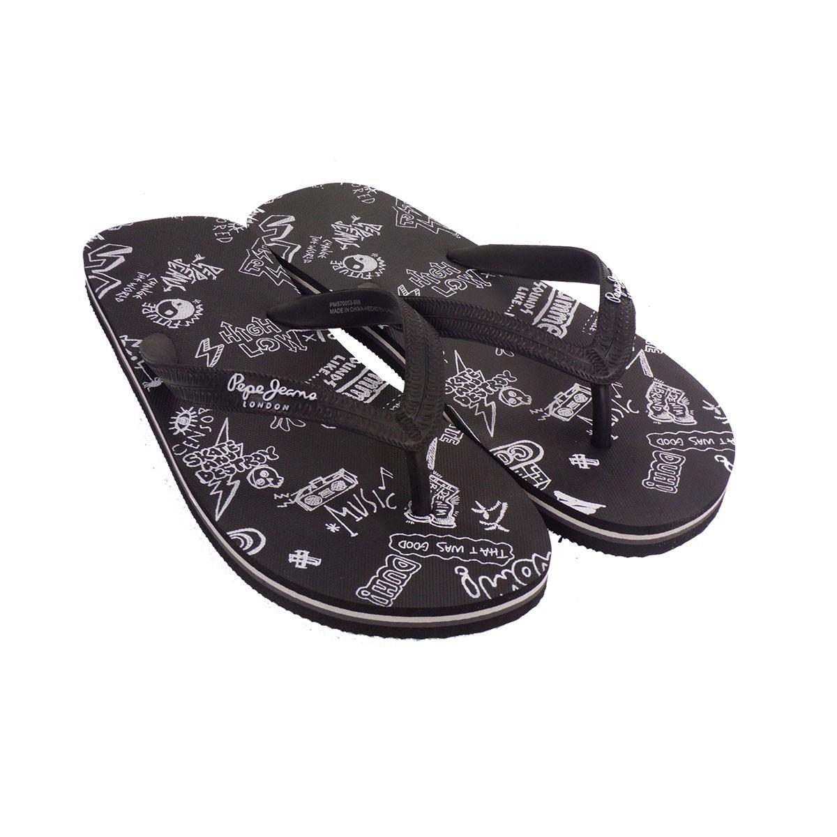 Pepe Jeans SWIMMING Ανδρικές Παντόφλες PMS70053-999 Μαύρο