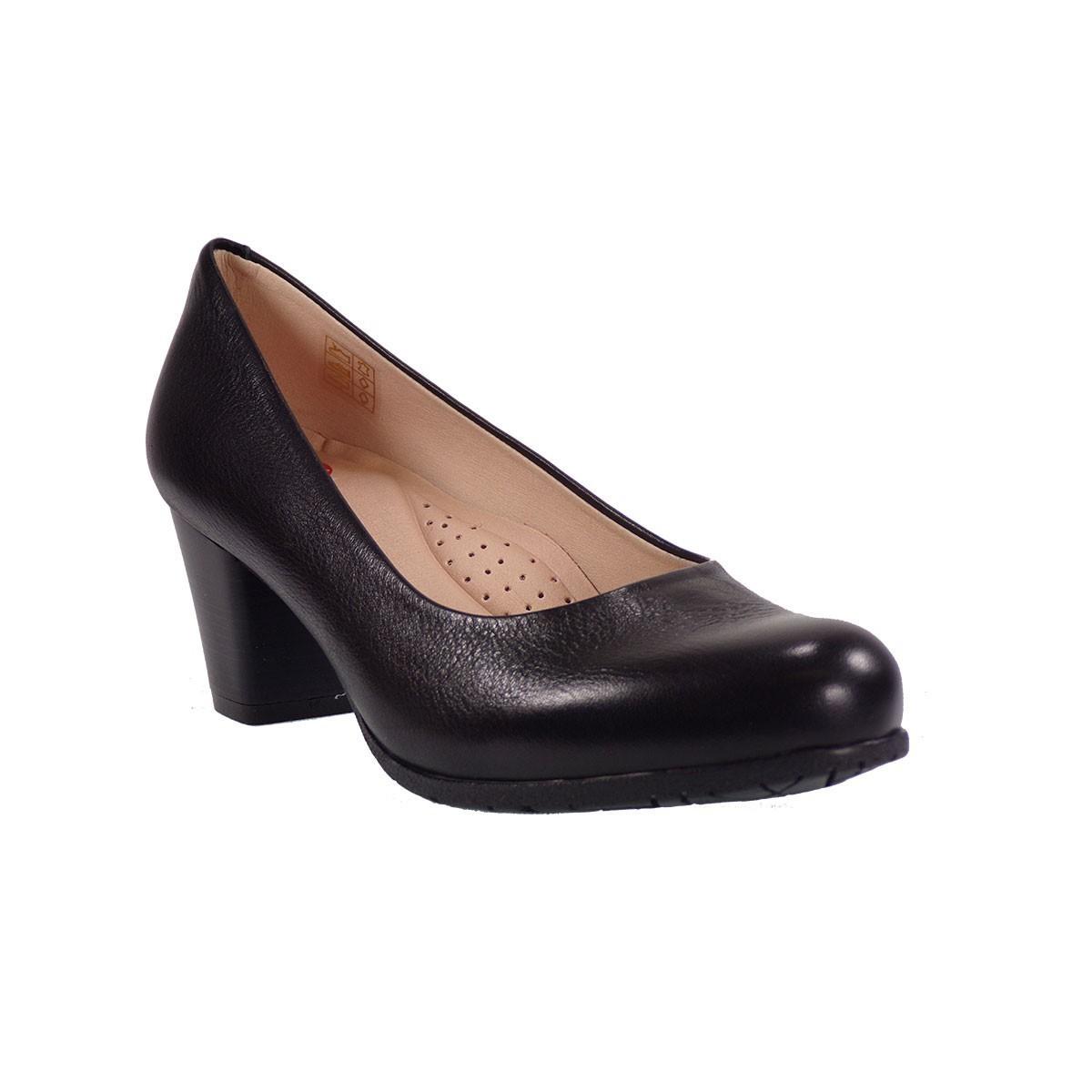 PEPE MENARGUES SHOES Γυναικεία Παπούτσια 6700 Μαύρο Δέρμα