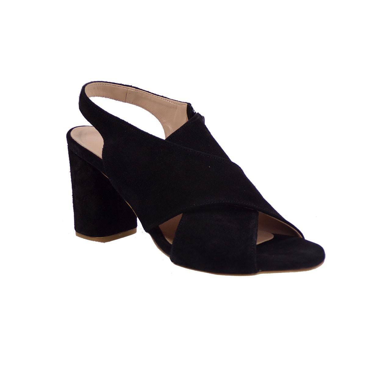 Smart Cronos Γυναικεία Παπούτσια Πέδιλα 6792-3656 Μαύρο Καστόρι Δέρμα