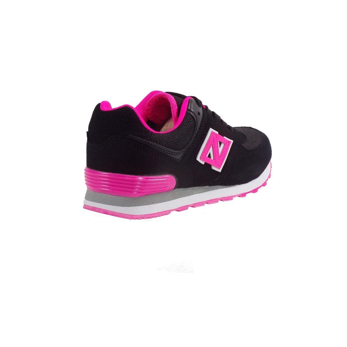 fff55799af33 www.bagiotashoes.gr gynaikeia sneakers l574-6 mayro roz (3)