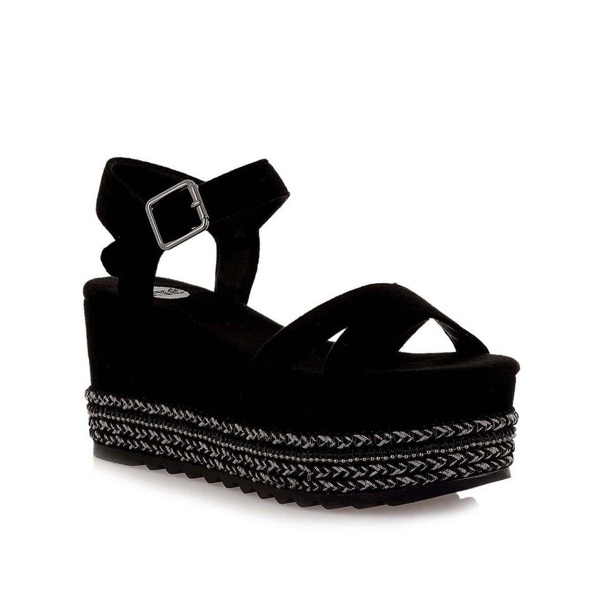 EXE Shoes Γυναικεία Πέδιλα Πλατφόρμες MACAU-716 Μαύρο Καστόρι G4700716716L  69b07cbacbc