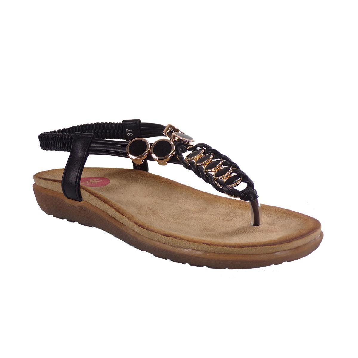 EXE Shoes Γυναικεία Πέδιλα 817 Μαύρο G4900817177505  b07ad4ba707