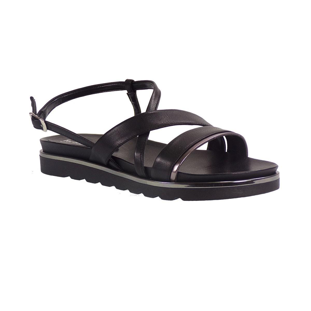Fardoulis shoes Γυναικεία Πέδιλα 35119 Μαύρο Δέρμα