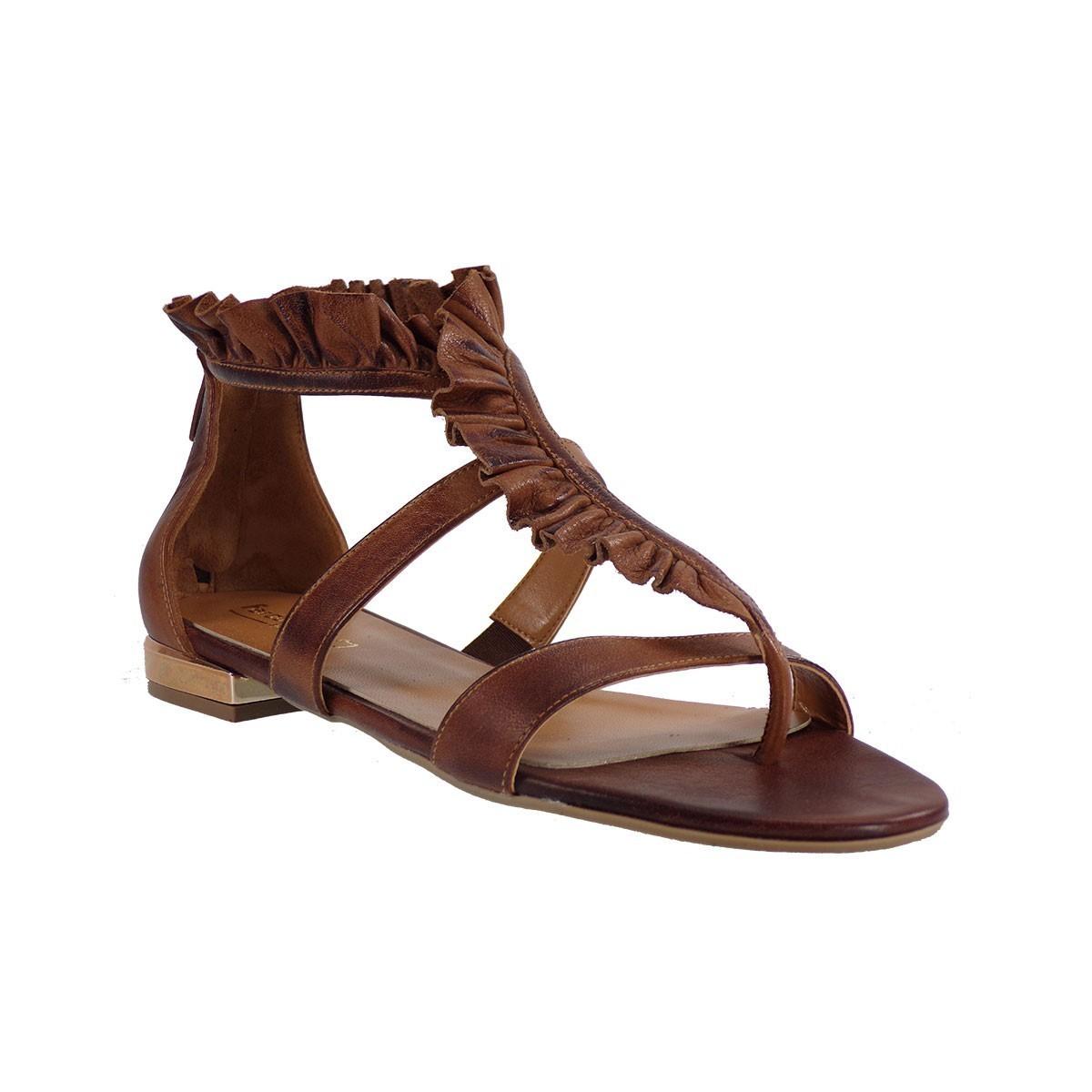 Fardoulis shoes Γυναικεία Πέδιλα 30018 Ταμπά Δέρμα