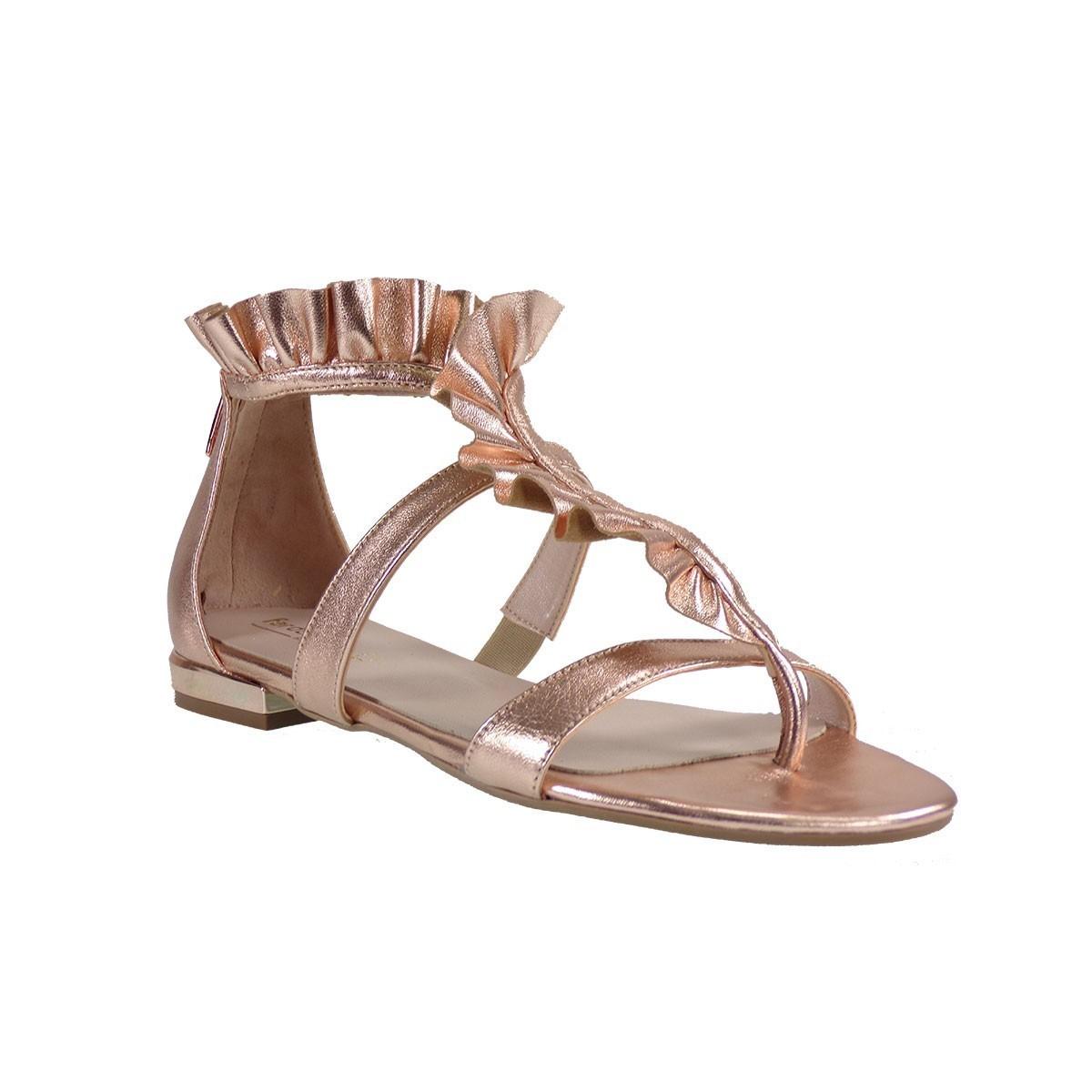 Fardoulis shoes Γυναικεία Πέδιλα 30018 Χαλκός Δέρμα