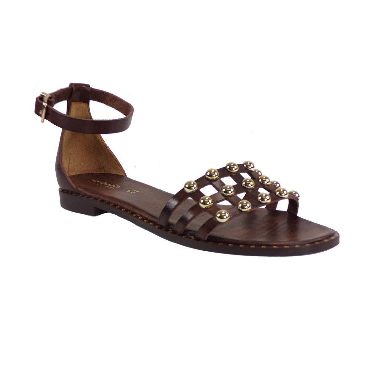 e1406d1ed5 Fardoulis shoes Γυναικεία Πέδιλα 47206 Καφέ Δέρμα