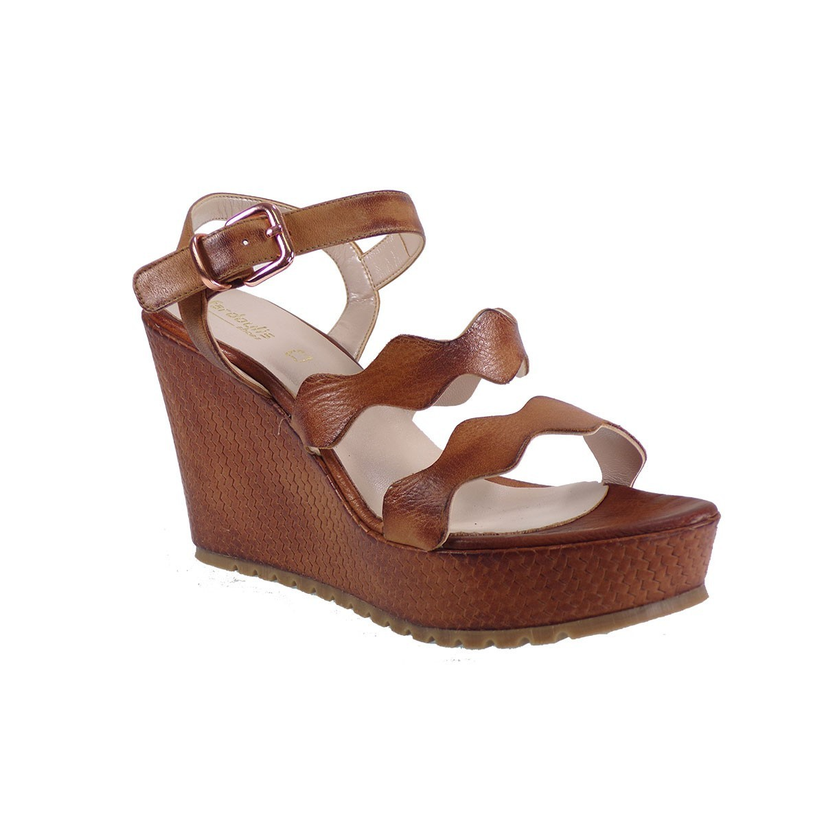 b285eda93b9 Fardoulis shoes Γυναικείες Πλατφόρμες Πέδιλα 26207 Ταμπά Δέρμα