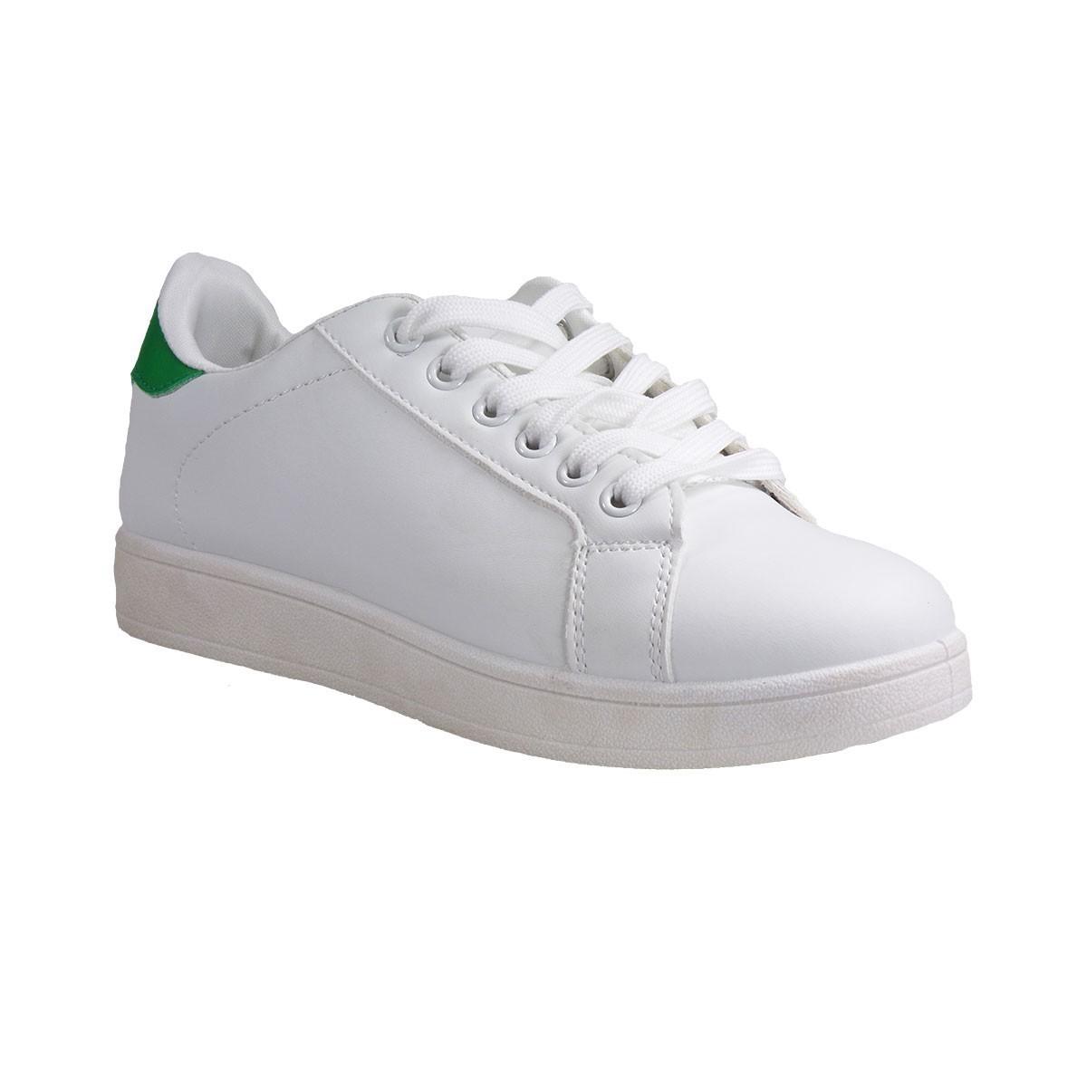 Bagiota Shoes Γυναικεία Παπούτσια Sneakers Αθλητικά 1730 Άσπρο-Πράσινο