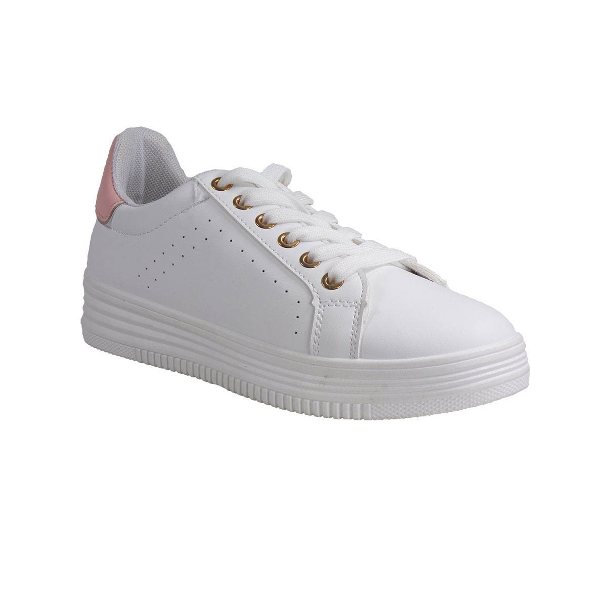 Bagiota Shoes Γυναικεία Παπούτσια Sneakers Αθλητικά ML-4303 Άσπρο-Ροζ
