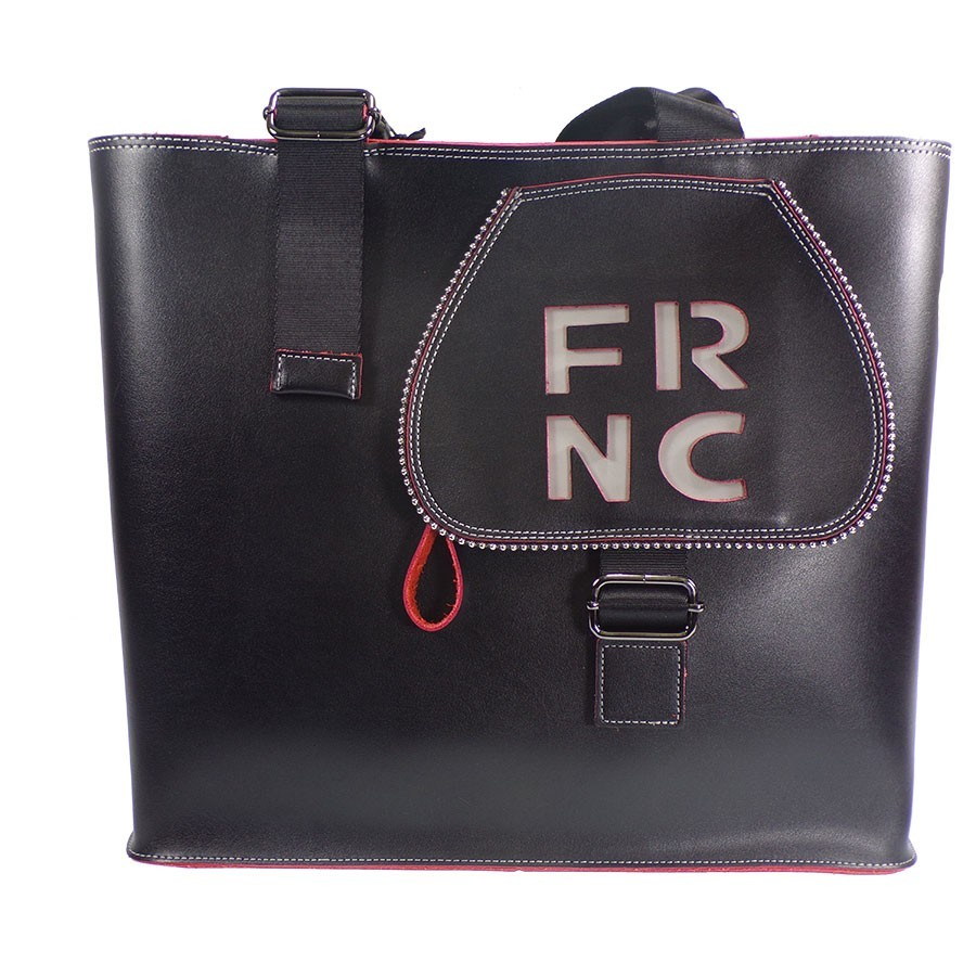 FRNC FRANCESCO Τσάντα Γυναικεία Ώμου 1265 Μαύρο Δέρμα  80b3a8a0774