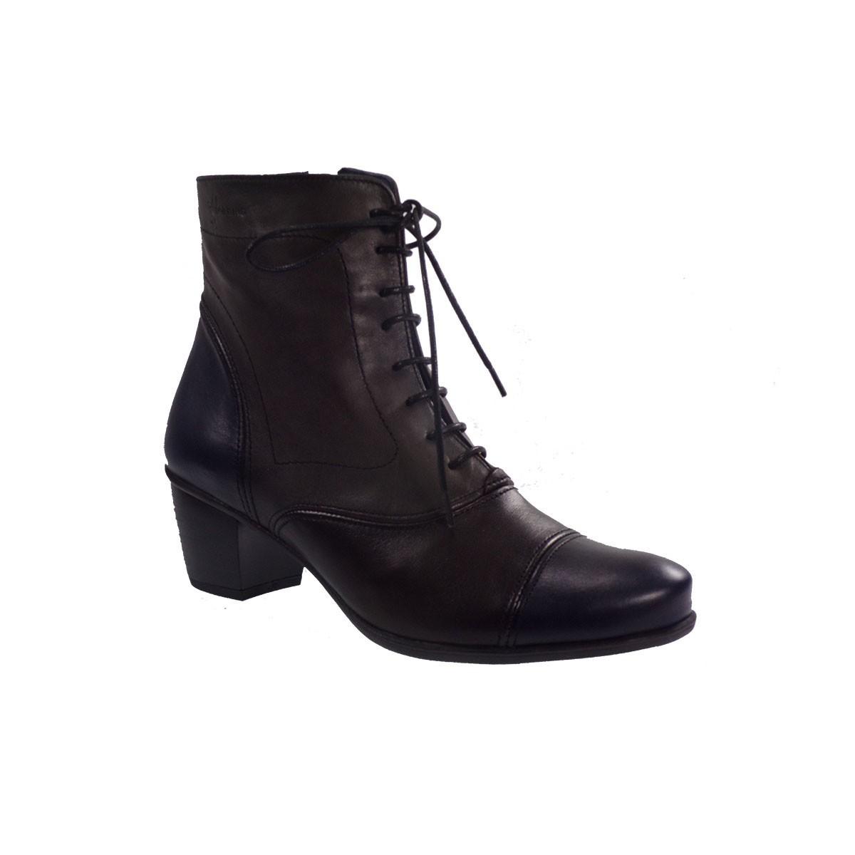 Dorking Γυναικεία Παπούτσια Μποτάκια D72555USSL Μπλέ Δέρμα