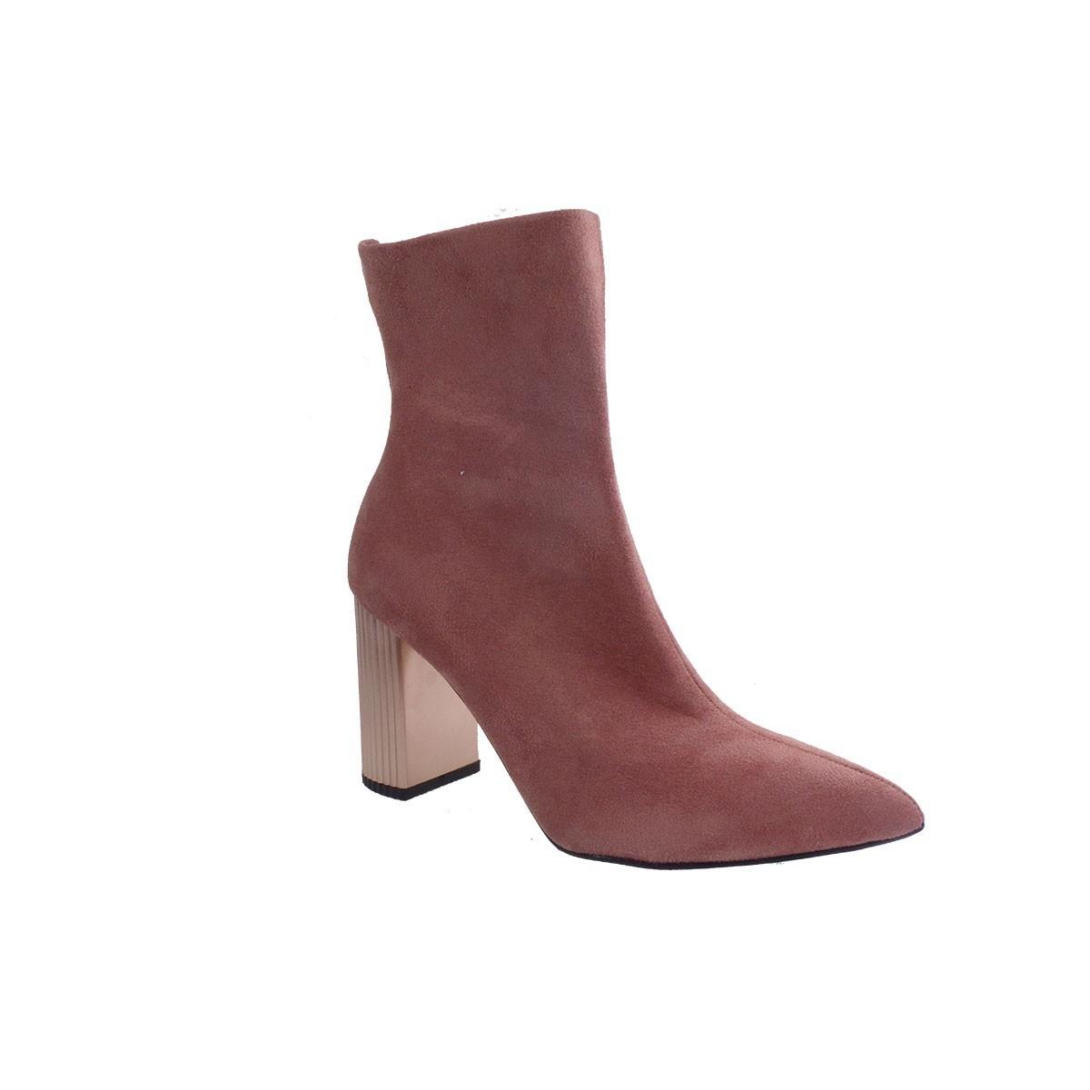 Alessandra Paggioti Γυναικεία Παπούτσια Μποτάκια 81544 Old Pink Καστόρι