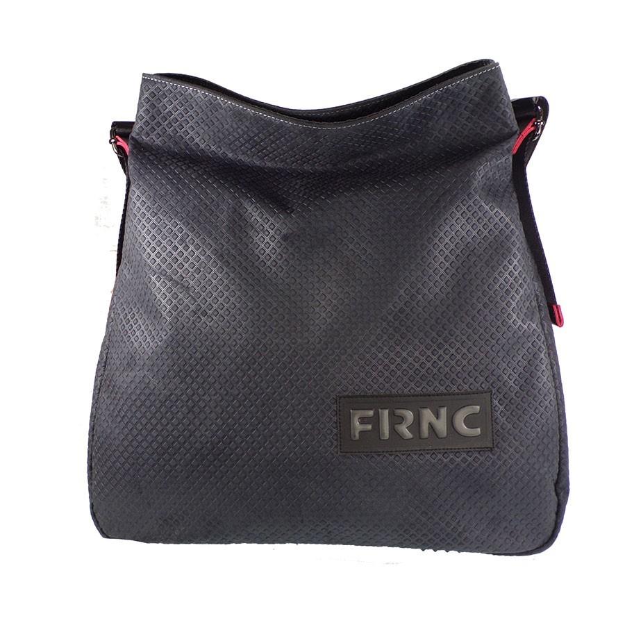 FRNC FRANCESCO Τσάντα Γυναικεία Ώμου 1650 Μαύρο Δέρμα  57df7710fdf