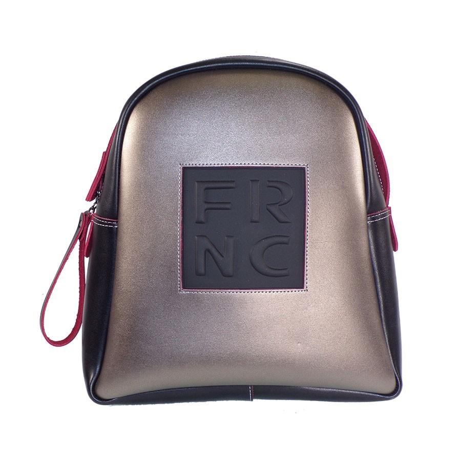 FRNC FRANCESCO Τσάντα Γυναικεία Πλάτης-Backpack 1202 Μαύρο-Ανθρακί ... 0478e0f8749