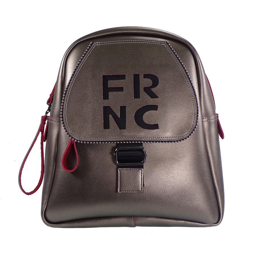 FRNC FRANCESCO Τσάντα Γυναικεία Πλάτης-Backpack 1261 Μπρονζέ Δέρμα ... cc81dfafaf6