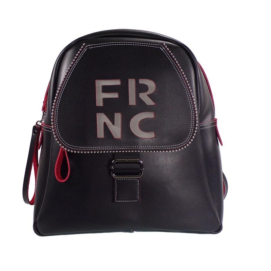 FRNC FRANCESCO Τσάντα Γυναικεία Πλάτης-Backpack 1261 Μαύρο Δέρμα ... 8c108ca2fb4