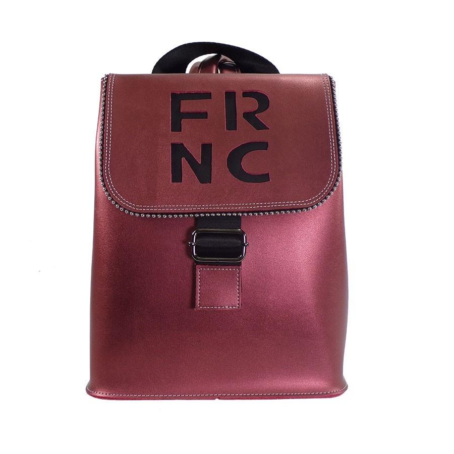 FRNC FRANCESCO Τσάντα Γυναικεία Πλάτης-Backpack 1260 Μπορντώ Δέρμα ... 905808b93e2