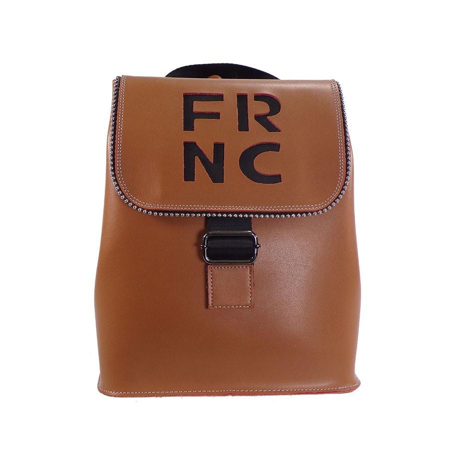 FRNC FRANCESCO Τσάντα Γυναικεία Πλάτης-Backpack 1260 Ταμπά Δέρμα ... 64deeeb11ad