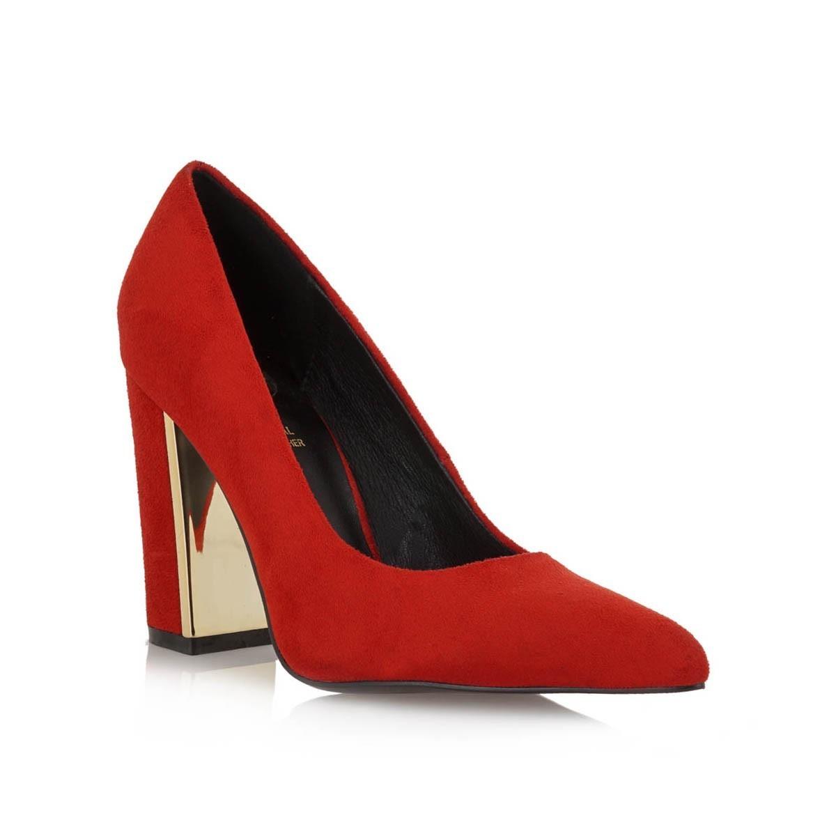 Exe Shoes Γυναικείες Γόβες 966-PATRICIA-900 Κόκκινο Καστόρι H17009665704