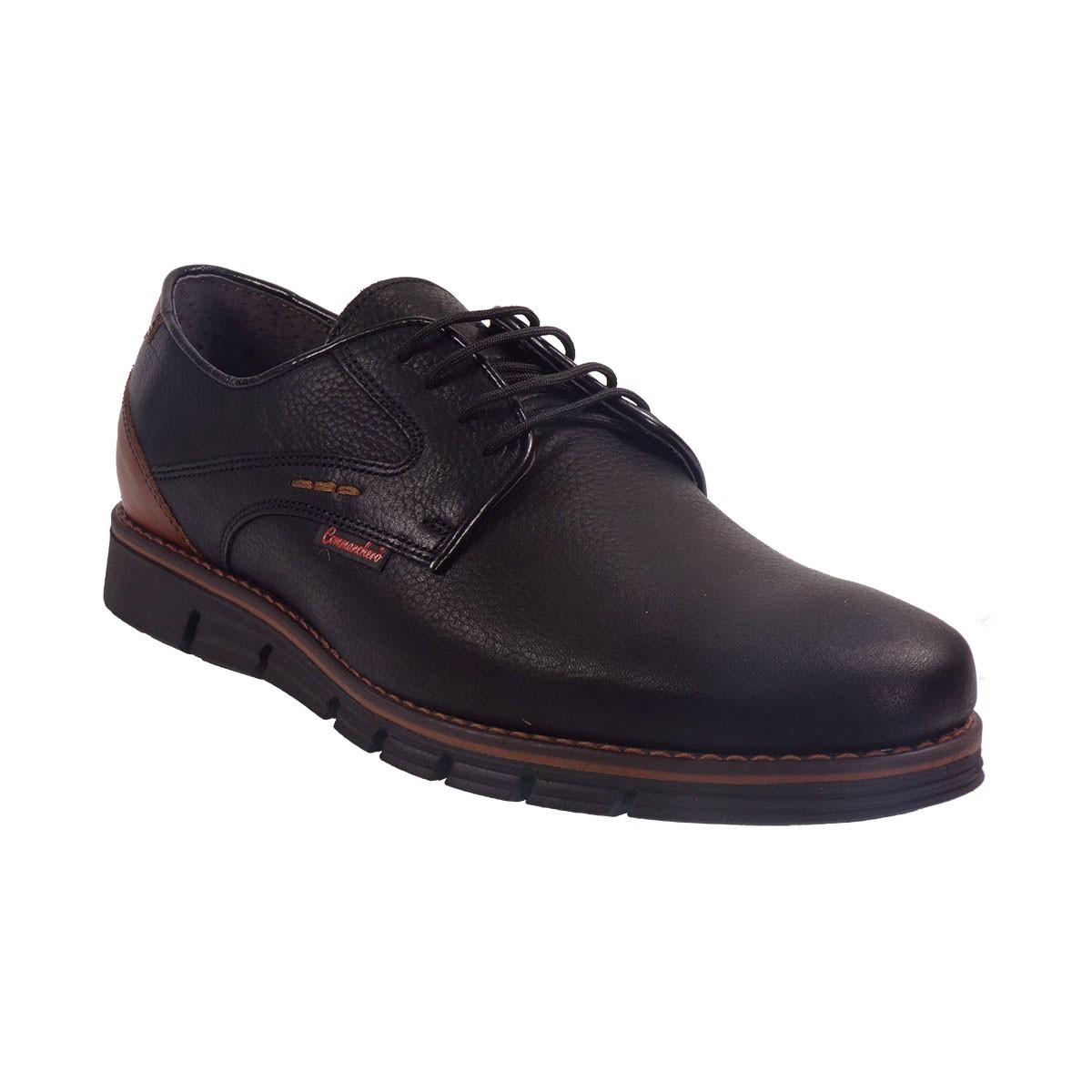 Commanchero Ανδρικά Παπούτσια 72068-721 Μαύρο Δέρμα