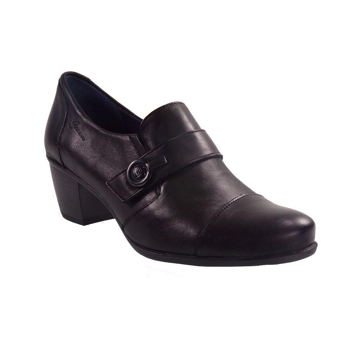Dorking Γυναικεία Παπούτσια BRΙSPA D7572-SUΝΒ Μαύρο Δέρμα