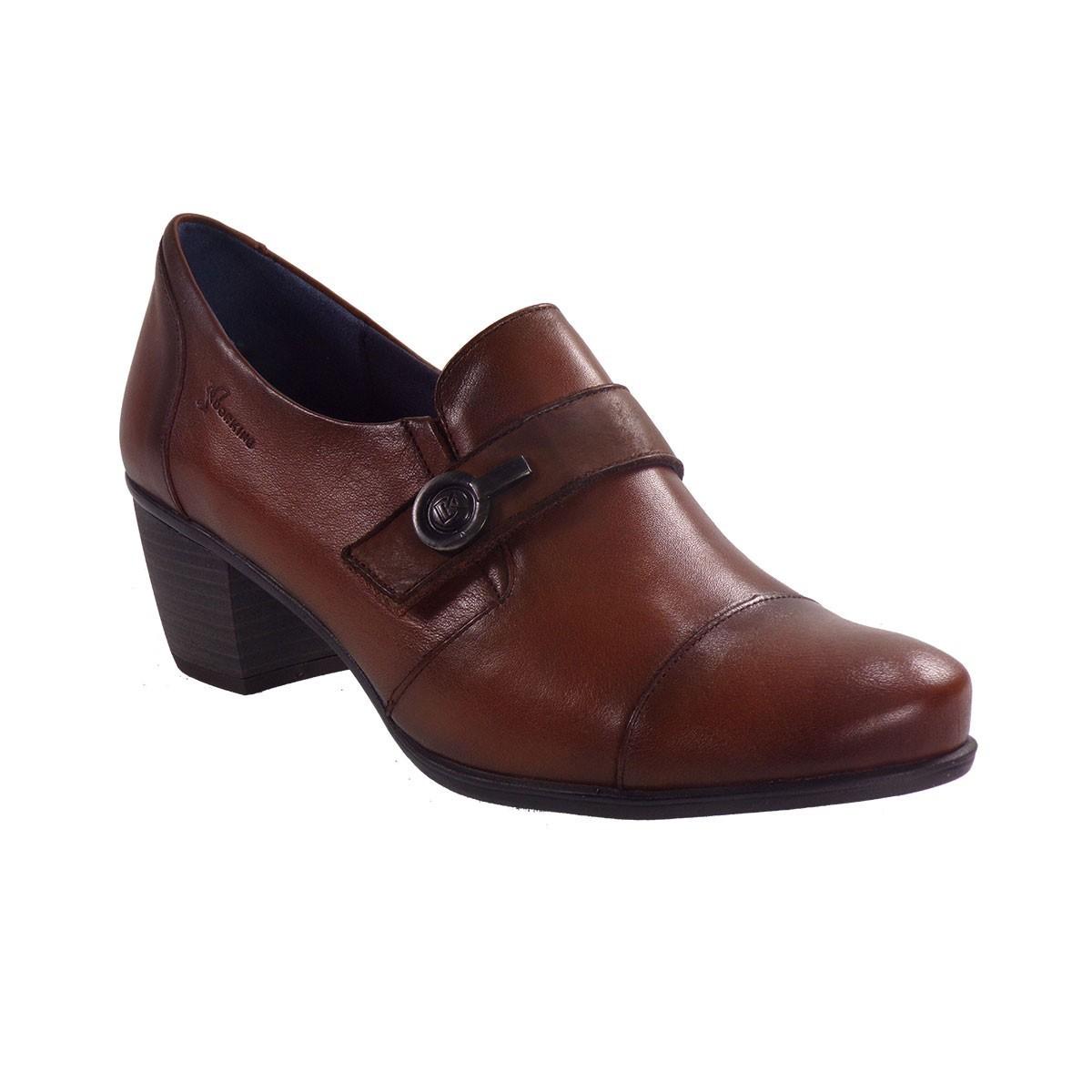 Dorking Γυναικεία Παπούτσια BRΙSPA D7572-SUΝΒ Ταμπά Δέρμα
