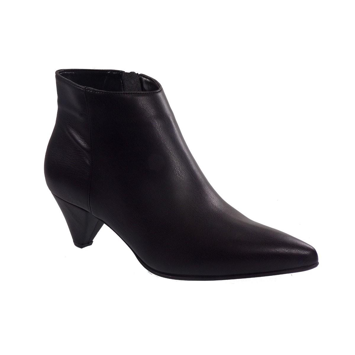 Fardoulis Shoes Γυναικεία Παπούτσια Μποτάκια Αστραγάλου 5609 Μαύρο Δέρμα
