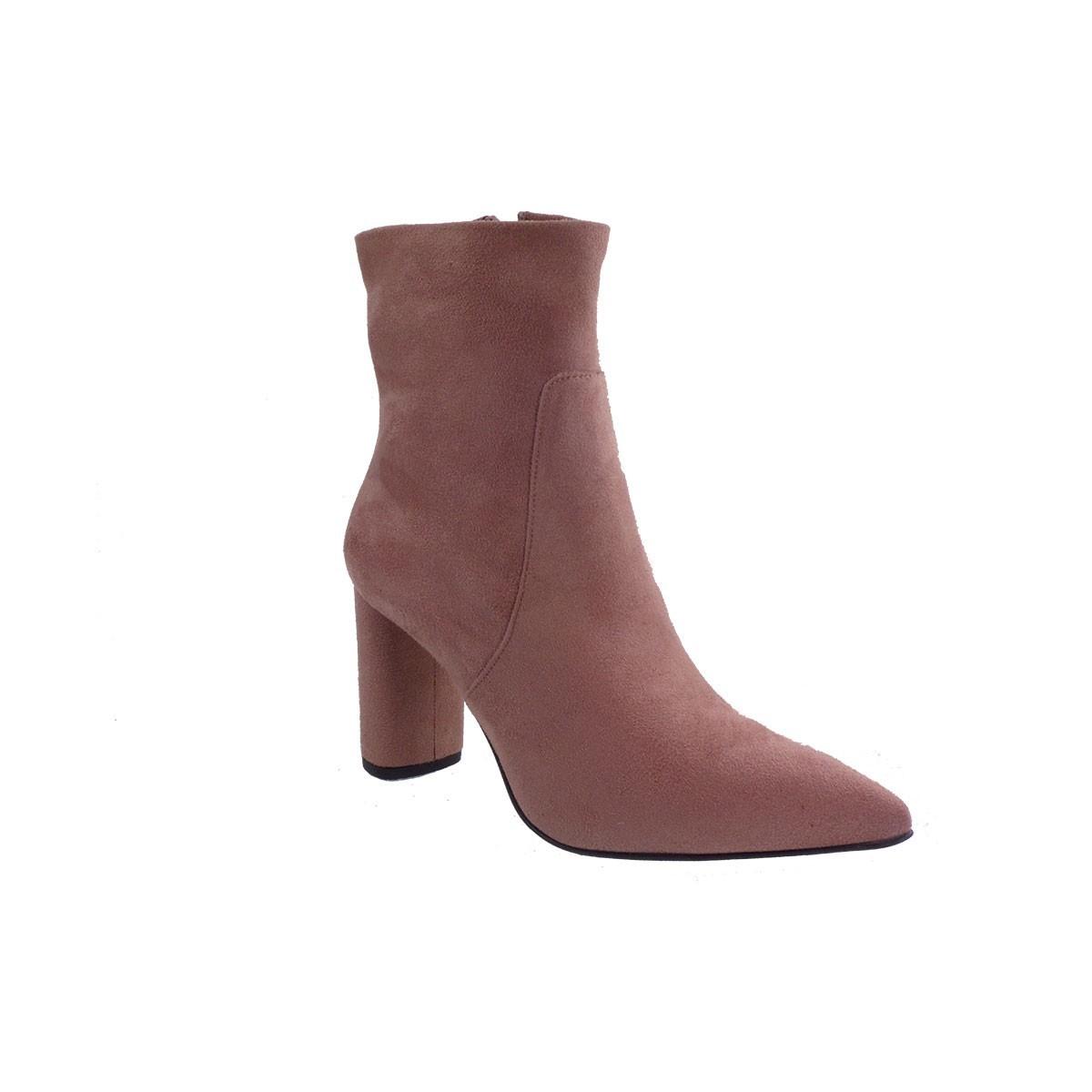 Fardoulis Shoes Γυναικεία Παπούτσια Μποτάκια 4311 Nude Kασ. Λικρα