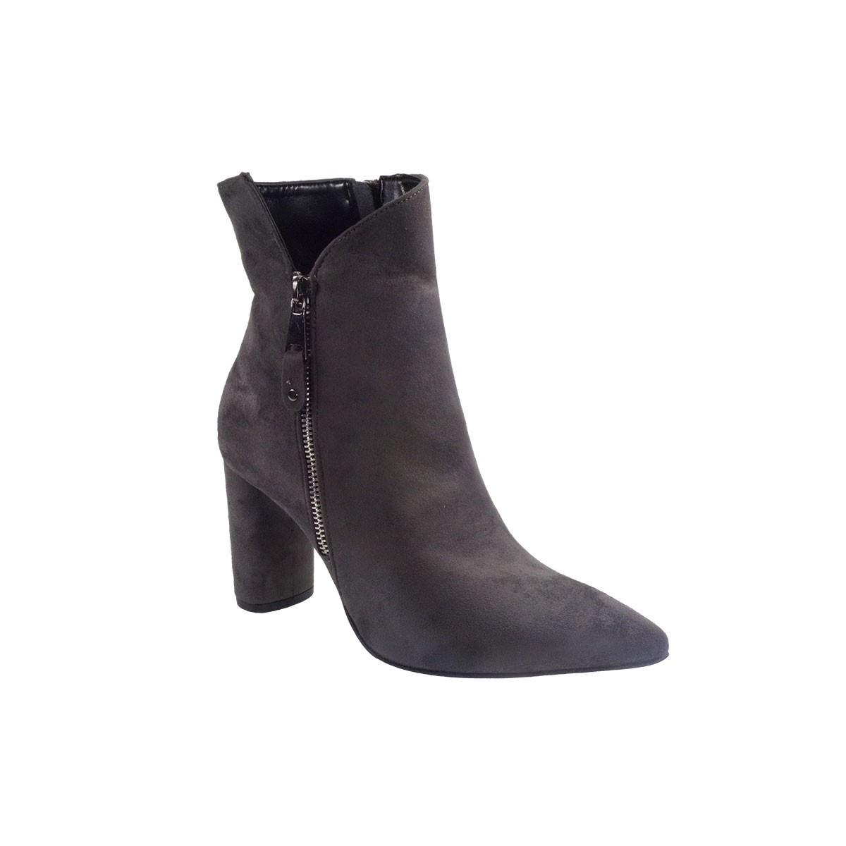 Fardoulis Shoes Γυναικεία Παπούτσια Μποτάκια 4309 Γκρί Λικρα