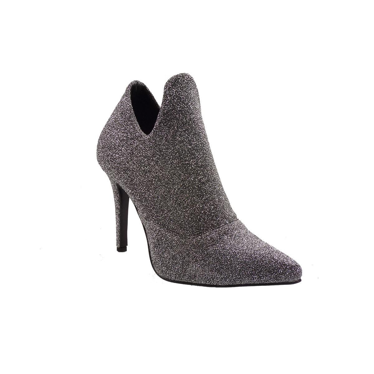 Katia Shoes Γυναικεία Παπούτσια Μποτάκια 47-4807 Ατσαλί Μεταλλικό Λίκρα