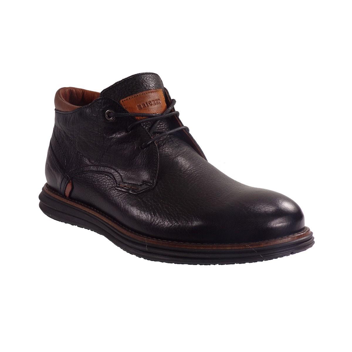 Kricket Shoes Ανδρικά Μποτάκια 1011 Μαύρο Δέρμα