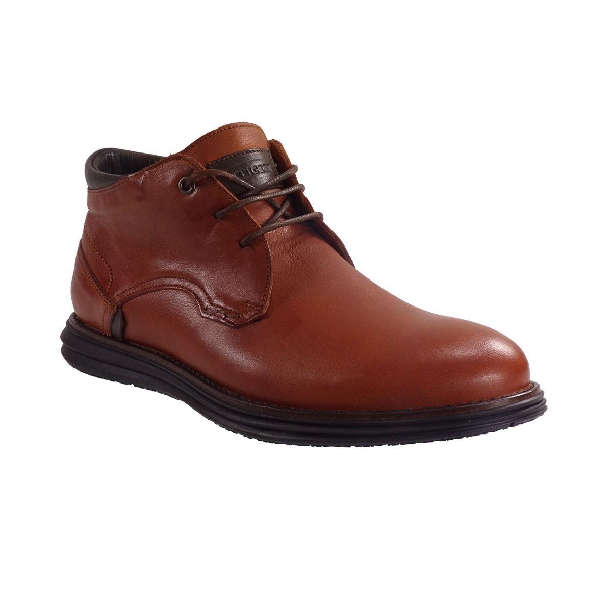 Kricket Shoes Ανδρικά Μποτάκια 1011 Ταμπά Δέρμα