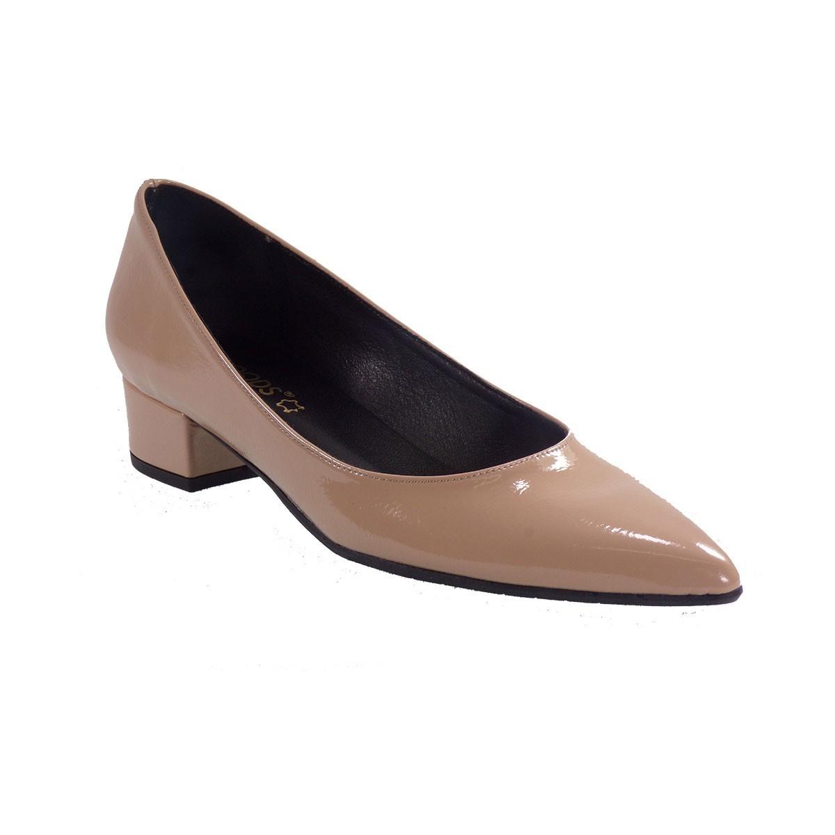 Moods Shoes Γυναικεία Παπούτσια 2542 Nude Λουστρίνι