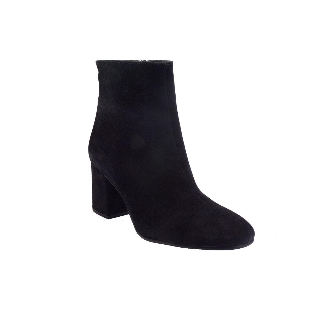 Moods Shoes Γυναικεία Μποτάκια 3060 Μαύρο Καστόρι