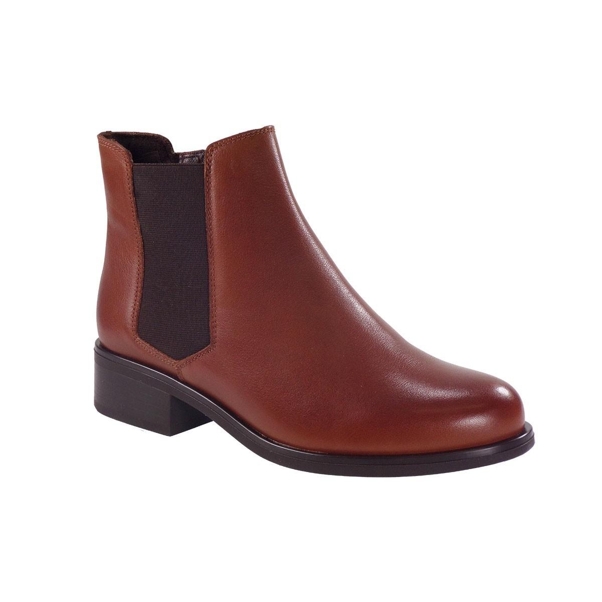 PEPE MENARGUES SHOES Γυναικεία Παπούτσια Μποτάκια 9050 Ταμπά Δέρμα
