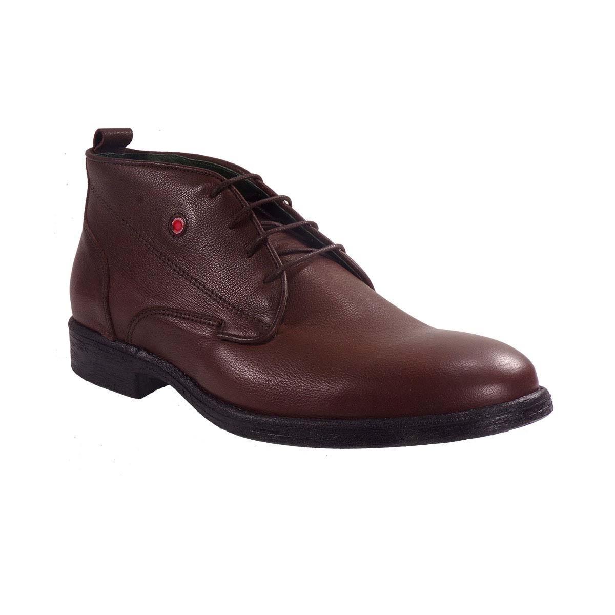 Robinson Ανδρικά Παπούτσια Μποτάκια Αρβυλάκια 1796 Καφέ Δέρμα