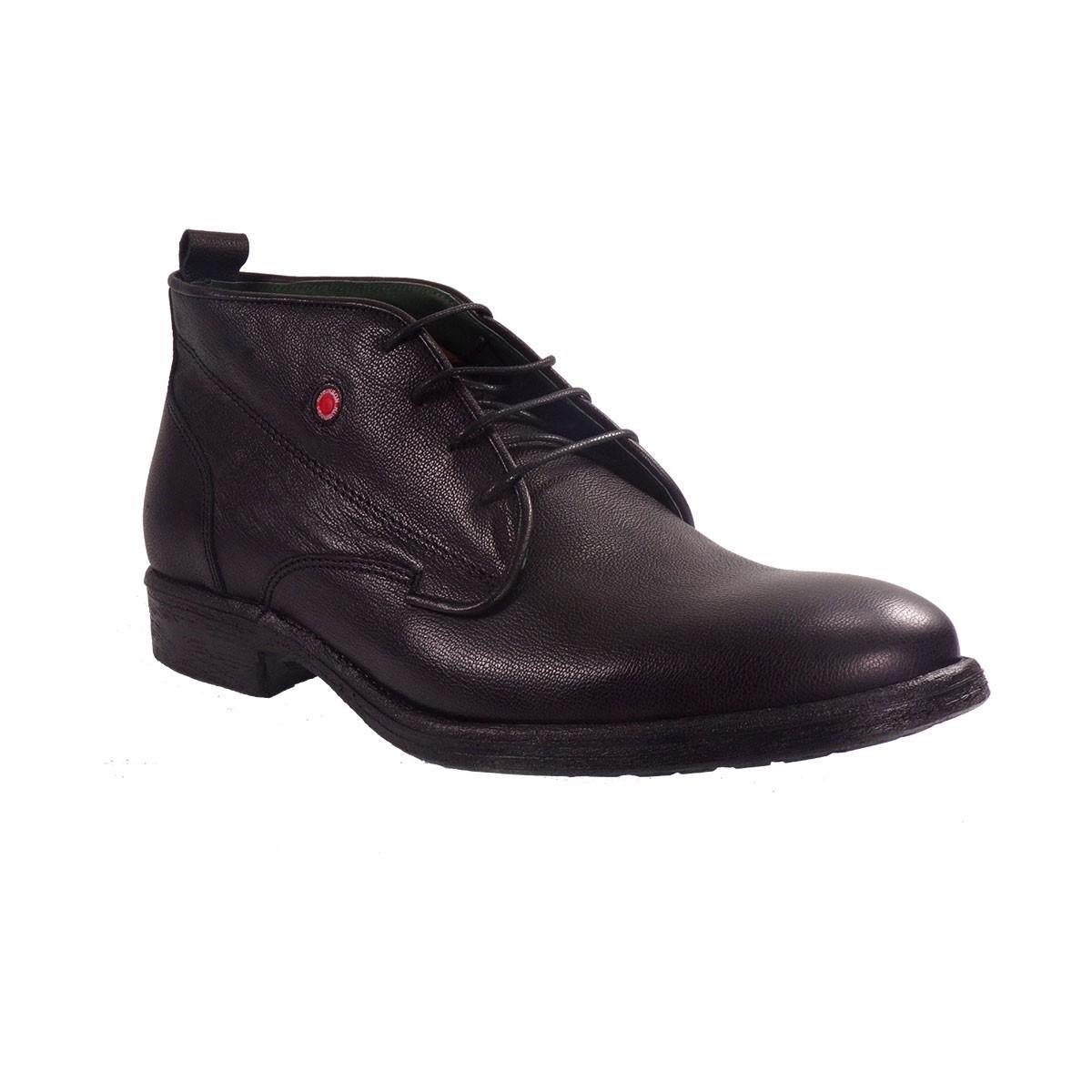 Robinson Ανδρικά Παπούτσια Μποτάκια Αρβυλάκια 1796 Μαύρο Δέρμα