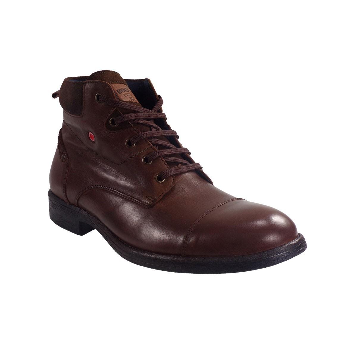 Robinson Ανδρικά Παπούτσια Μποτάκια Αρβυλάκια 1651 Καφέ Δέρμα