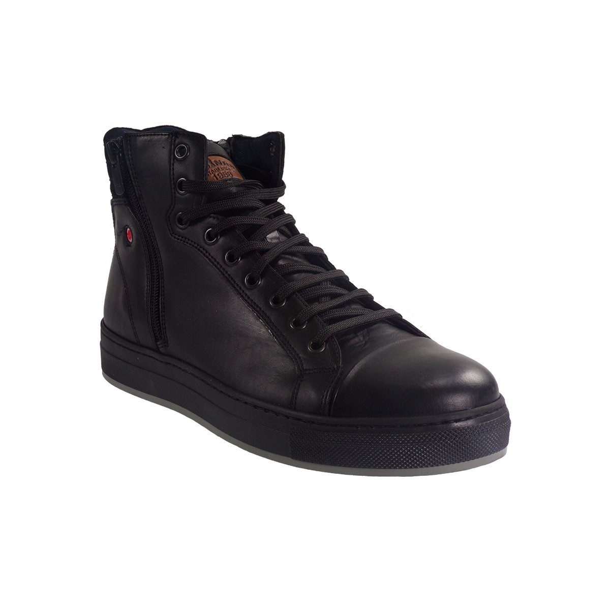 Robinson Ανδρικά Παπούτσια Μποτάκια 1692 Μαύρο Δέρμα  f831953517c