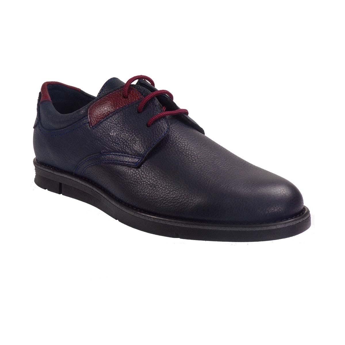 Softies Ανδρικά Παπούτσια 6923 Μπλέ Δέρμα