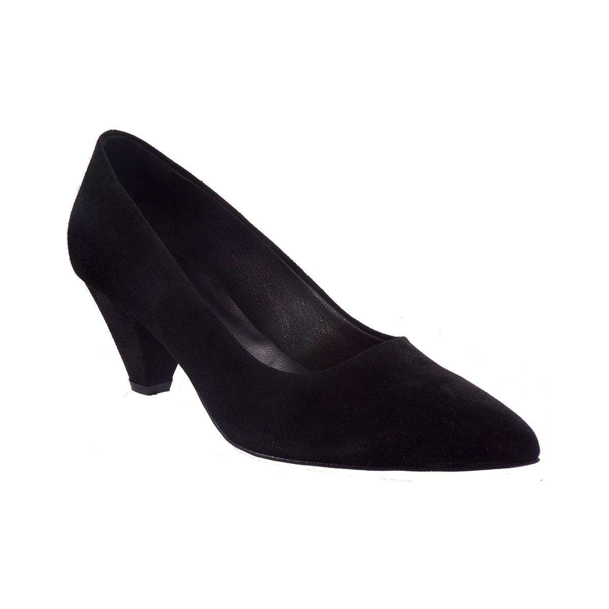 Katia Shoes Γυναικεία Παπούτσια Γόβες ΚΓΟΒΑ-5100 Μαύρο Δέρμα Καστόρι