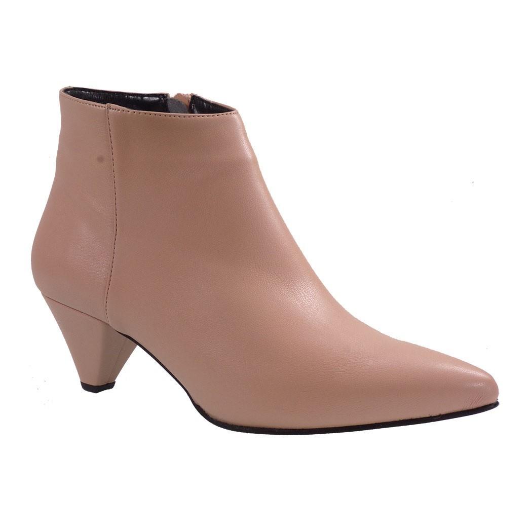 Fardoulis Shoes Γυναικεία Παπούτσια Μποτάκια Αστραγάλου 5609 Nude Δέρμα