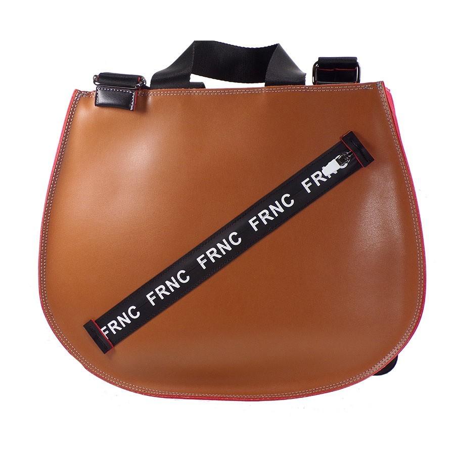 FRNC FRANCESCO Τσάντα Γυναικεία Ώμου 1253 Ταμπά Δέρμα  c9c08c14d7c