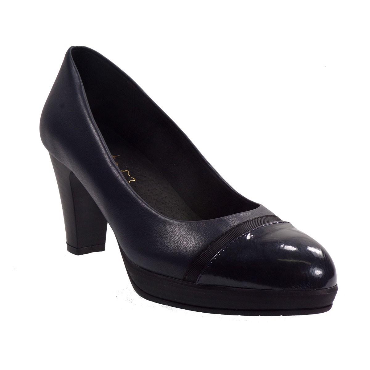 Katia Shoes (Anneto) Γυναικεία Παπούτσια Γόβες K76-5098 Μπλέ Δέρμα