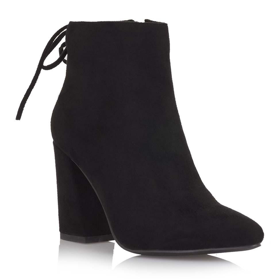 Exe Shoes Γυναικεία Παπούτσια Μποτάκια V543-A405-A Μαύρo Καστόρι