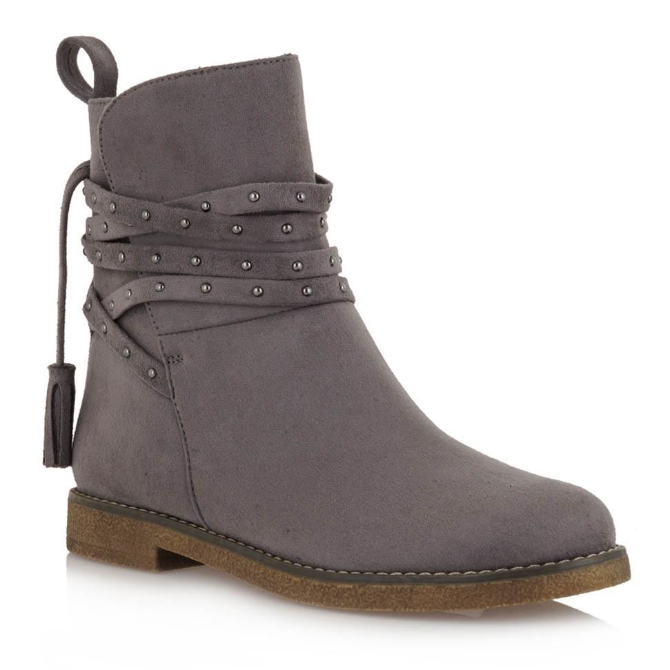 Exe Shoes Γυναικεία Παπούτσια Μποτάκια AMAZON-050 Γκρί Καστόρι H37000501569   bf330597718