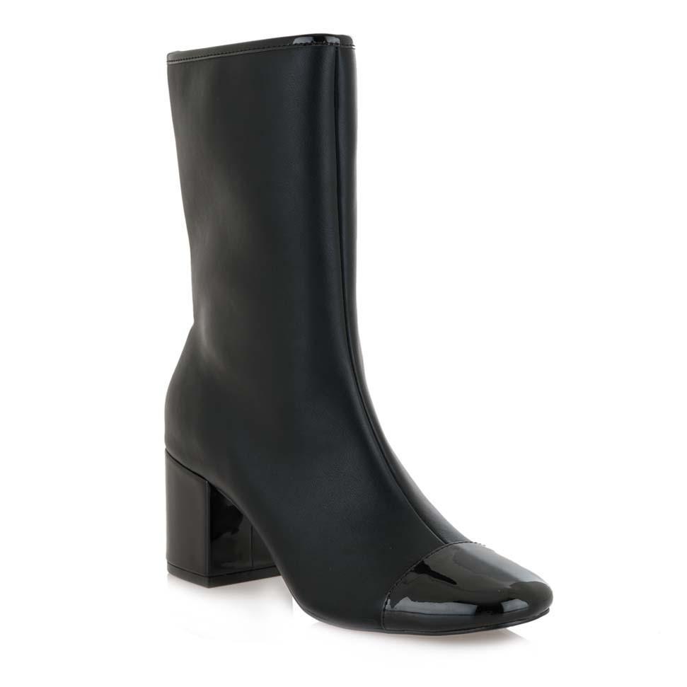 Exe Shoes Γυναικεία Παπούτσια Μποτάκια 550-CHERRY Mαύρo H3700550306J