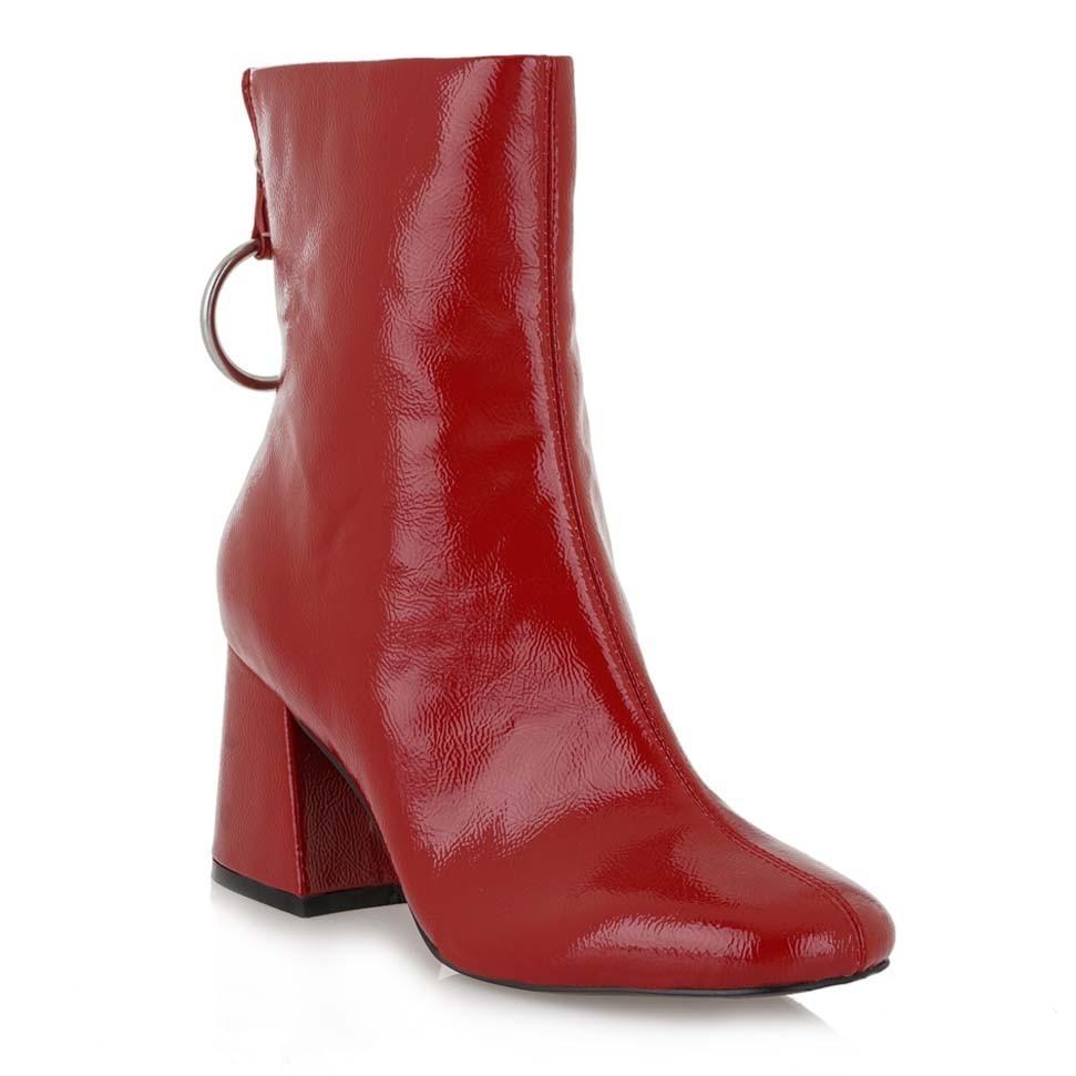 Exe Shoes Γυναικεία Παπούτσια Μποτάκια ANNABEL-677-776 Κόκκινο ... 216d91f01a9