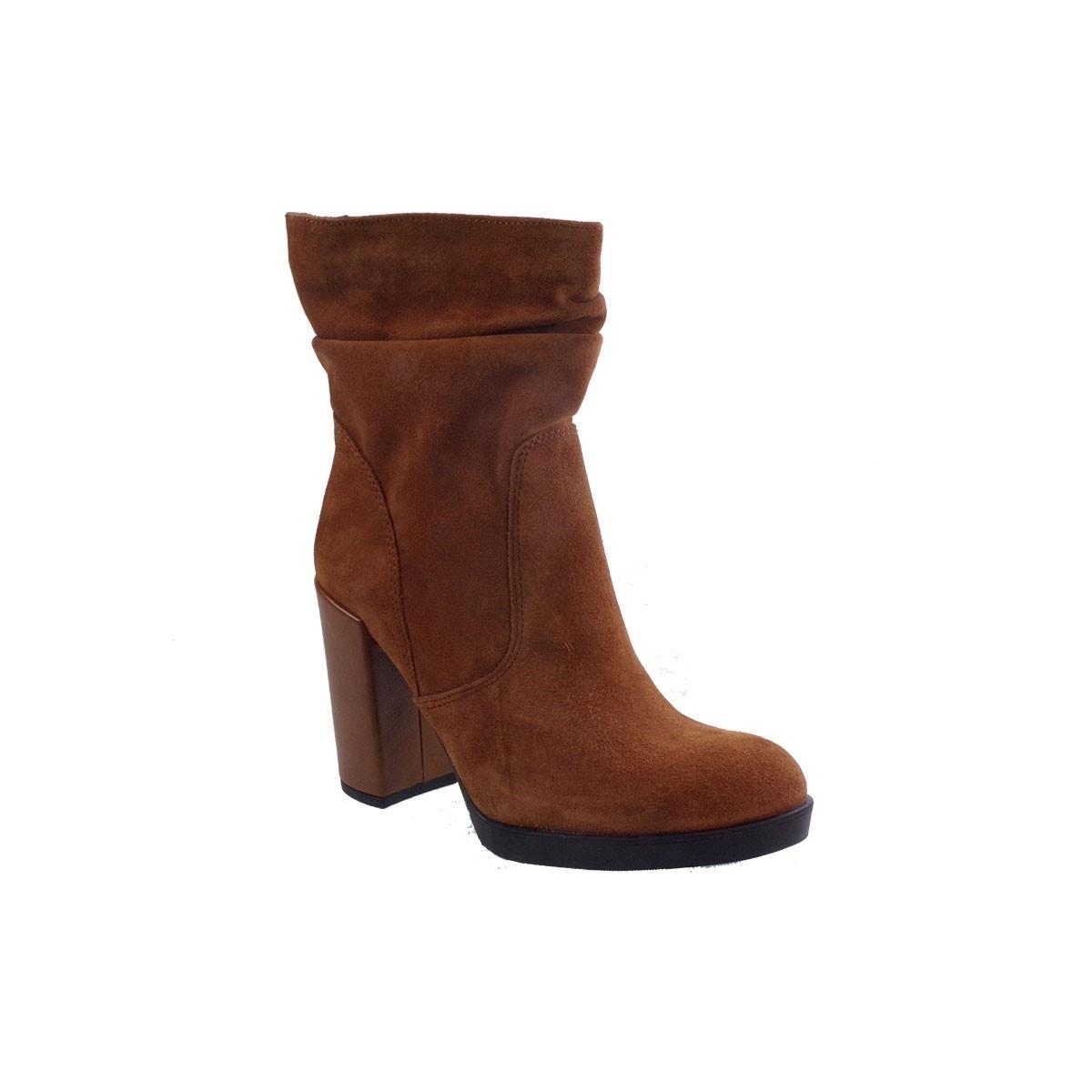Envie Shoes Γυναικεία Μποτάκια E02-08902 Ταμπά Καστόρι Δέρμα